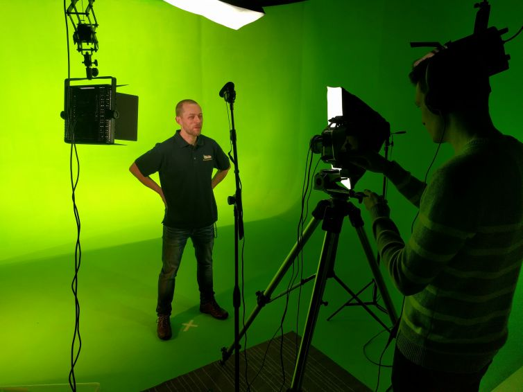 Direct to camera Web Promo – shoot your own using the studio teleprompter, camera, audio and lighting